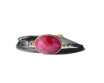 Ruby cord bracelet