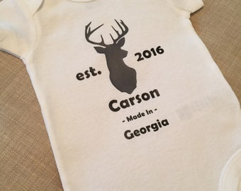 Personalized Deer Onesie
