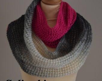 Knit Infinity Scarf Fuschia