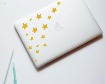 Star Laptop Sticker, Stars, MacBook decal, Laptop Decal, Computer Decal, Home Decor, Laptop decor, Gift Ideas