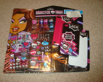 Monster High Decorating Kit DIY For Ipod Touch IPhone 4/4S Iphone5 Decorate your own Case Phone Case