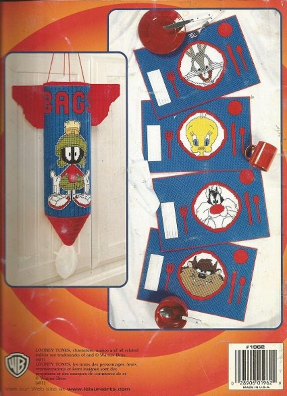 Pattern Book Plastic Canvas Looney Tunes Fun At Home