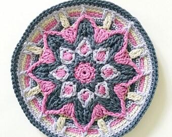 Radiant Flower Coaster | Overlay Crochet Pattern | Crochet Home Decor