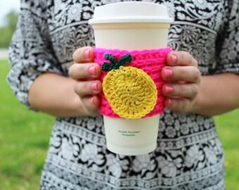 Pineapple Coffee Coozie, Coffee Sleeve, Coffee Cozy, Pineapple