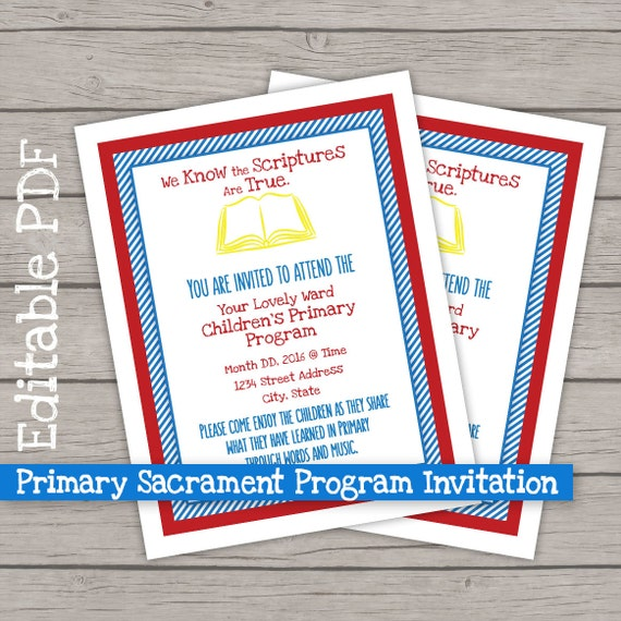 2016 Lds Primary Program Invitations Program Cover - Www imagez co