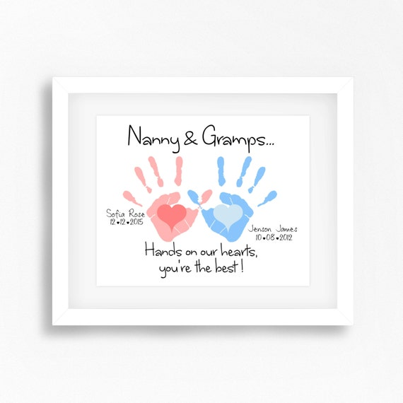 Baby Gifts For New Grandparents : Personalized grandparents gift nana and grandad baby