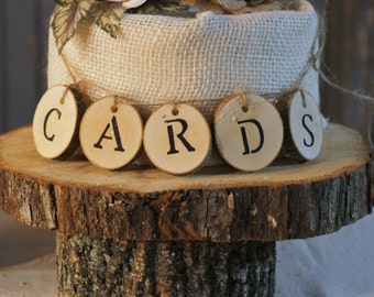 Log Slice Wedding Cards Table Sign, Wedding Card Box Sign, Card Box for Wedding Sign, Wedding Reception Signs gifts, Wedding Signs for cards