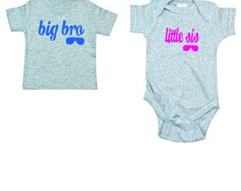 Big bro little sis apparel set makes a great baby shower gift