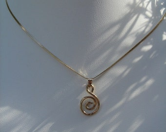Necklace in gold 585 (14 K) with spiral!
