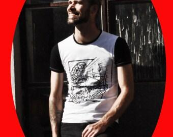 "T-Shirt MEN ""Ship and anchor"" organic Jersey"