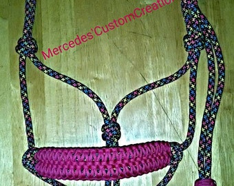 Wide Double Cobra Noseband Rope Halter