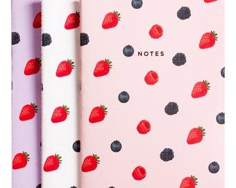 Fruity Berries Notebook Journal Diary Set