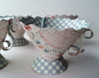 paper tea cups birthday party favors bridal shower tea party party tea cups