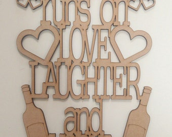 Mum's house runs on Love Laughter and VODKA