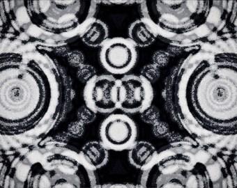 Vintage Kaleidoscope - Digital Art printed on canvas
