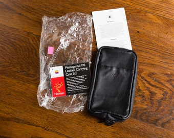 90s Vintage Apple Newton MessagePad 110 Leather Carrying Case LC - Unused - 1990s - 1990's - Electronics Accessory
