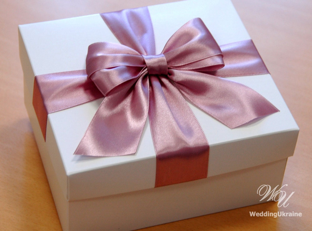 Wedding Gift Collection Boxes: Rose Antique Gift Box Wedding Box With Satin Bow Custom