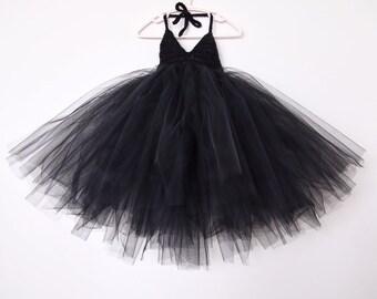 The Black Orchid - black tutu dress