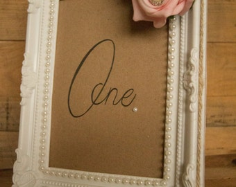 Wedding table number frame
