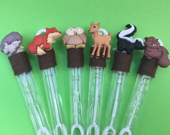Woodland Animal Favor: Forest Animal Favor, Baby Animal Favor, Woodland Bubble Favor
