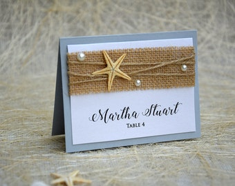 Beach Place Cards, Name Place Cards, Place Card Names, Beach Wedding Place Cards, Beach Wedding, Rustic Place Card, Rustic Wedding