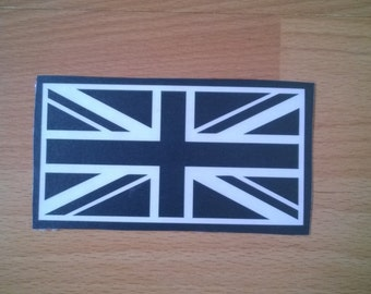 SALE DECALS - Union Jack - Union Flag - Wall Art - Decal - Sticker - 4.8cm x 9.6cm - Black - Only 10 Available - Tablets - Laptops - Windows