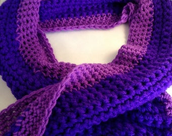 Chunky crochet scarf , purple scarf, crochet scarf,  neck warmer, teenager gift, adult gift