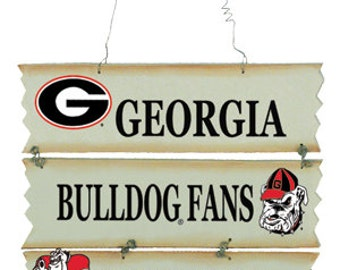 Georgia Bulldogs Hanging Fan Sign/Wreath Supplies/NCAA Football/College Football/82201