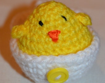 PATTERN - Crochet Chick with Egg Case - PDF Download