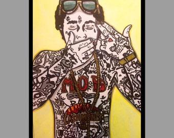Acrylic Lil Wayne Painting on Bristol Board OOAK