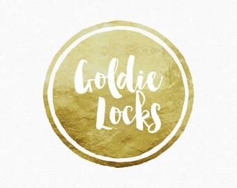 Gold Circle Logo Design , Gold Leaf , Gold Border , Urban Design , Trendy Style , Blog Header , Blog Banner , Blog Branding , Style Blog