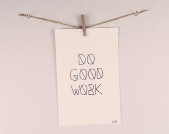 Do Good Work Illustration
