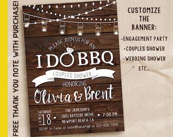 Couple's Wedding Shower Invitation / printable invitation