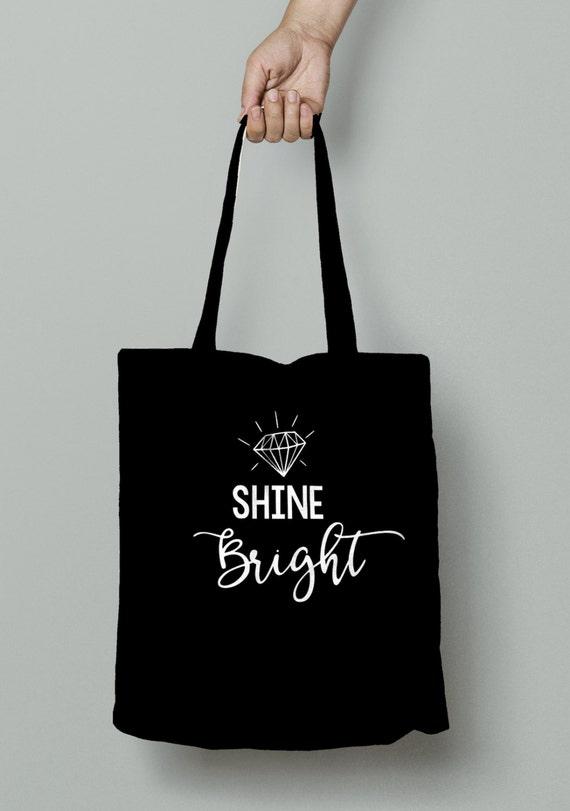 Shine Bright Tote, bachelorette tote, bachelorette party, bride, bride gift