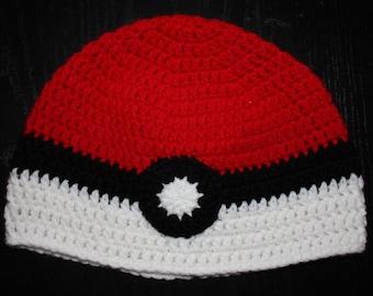 Pokeman Inspired Crochet Beanie Hat Toque