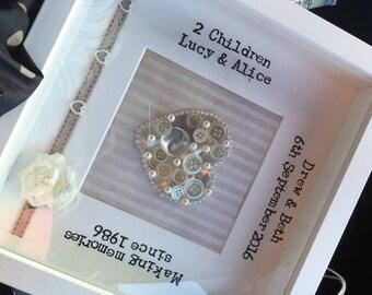 Framed Personalised Bespoke Pearl Anniversary Gift 30 Years Wedding