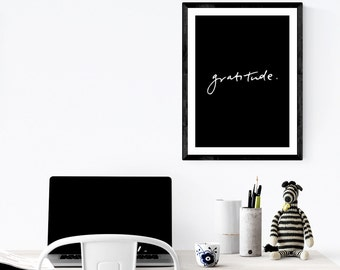 Gratitude | Art Print | Wall Print | Monochrome | Wall Art