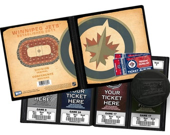 Personalized Winnipeg Jets Ticket Album - Officially Licensed by the NHL