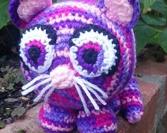 Fat Cat Soft Toy, Handmade Cat Plushie, Amigurumi Cat