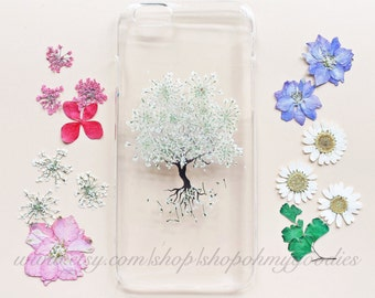 Samsung Galaxy S7 Case Floral, iPhone 7 Case, iPhone 5s Case, iPhone 6 Case, Samsung Galaxy S6 Case, S5 Case, 6 Plus Case, Clear Flower Case