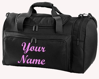 Personalised Printed Holdall -Equestrian -  Dance - Theatre  - Cheerleader - Sports - Duffle Personalized  bag with Script Font FO9