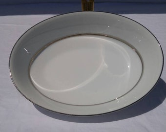 """Noritake """"Galaxy"""" pattern oval serving bowl, discontinued, 6527"""