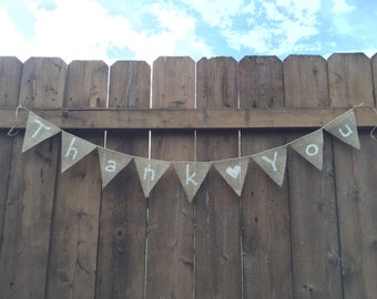 THANK YOU Burlap Banner - CUSTOMIZE!