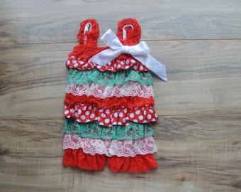 Christmas Baby Girl Petti Romper, baby romper, Baby girl Outfits, Baby Girl Clothes, Baby Lace Romper, baby clothes, baby gift, 1st Birthday