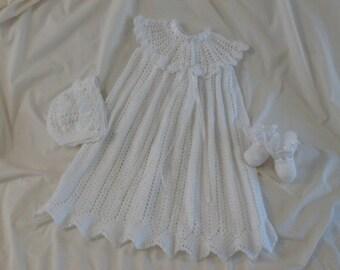 Crocheted Blessing/Baptism/Christening Gown set