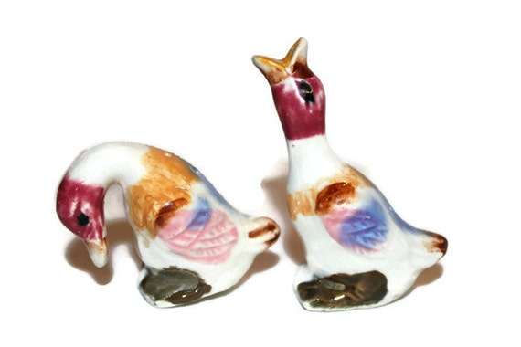 Salt and pepper shakers colorful ducks Colorful salt and pepper shakers