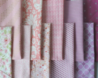 Pink Fabric bundle of Fat Quarters