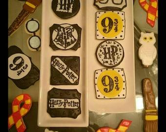 Assorted Harry Potter Cookies (Dozen)
