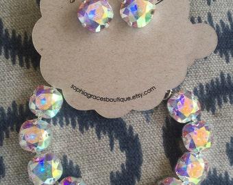 Bella B Crystal AB Studs & bracelet
