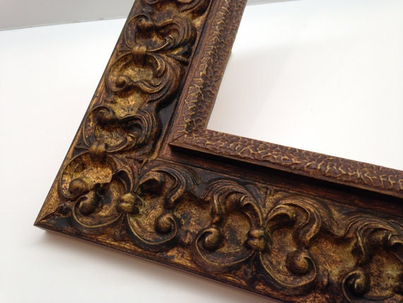 dark gold ornate picture frame 3x5 4x6 5x7 8x10 11x14 16x20